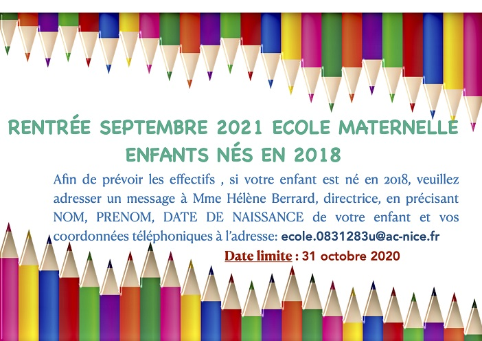 Previsions effectifs 2021 maternelle